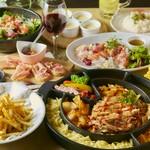 選べるメインは滝チーズトッポギ鍋orUFOフォンデュorエビチーズフォンデュ!韓国料理を堪能できる8品付♪