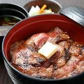 創業以来数々の食通たちをもうならせてきた逸品『赤坂名物ビフテキ丼』