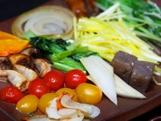 岡山県産の珍しい新鮮な野菜のかずかず