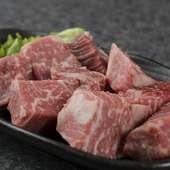 大きい角切りが嬉しい、肉の味をしっかり味わう『ヒレ』