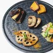 地元の季節の野菜を使った『旬野菜MIXグリル』