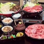 一人前で楽しみたいなら『松茸・特選近江牛すき焼き御膳』
