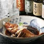 北海道直送の食材のひとつ「きんき」を使った煮付