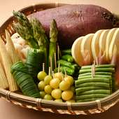 天ぷらにしておいしいもの、が素材選びの基準