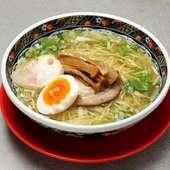 一度は食べてほしい、店の自慢の味『味彩塩拉麺』