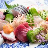市場直送「走り」と「旬」の鮮魚。中には入荷困難な珍しい鮮魚も