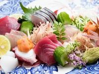 福岡県長浜市場・柳川市場直送! 「走り」と「旬」の『旬魚お刺身の盛り合わせ』