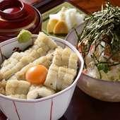 美しい白焼きが香ばしいヘルシーセット『志ら丼とうおとらサラダ』