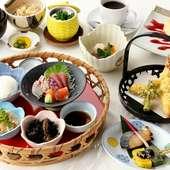 「一の膳」「二の膳」と2回に分けてお出しする、ちょっと贅沢な『神楽膳(かぐらぜん)』