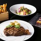 シンプルなステーキ&グリルだからこそ、素材の良さは最も大切に