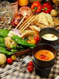 選べるチーズフォンデュと特製デザートデザート付き 安藤ファームのお試しコースです。