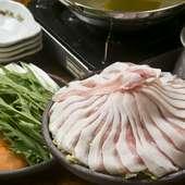 地元・糸島のブランド豚を使用 『糸島豚しゃぶ鍋』