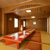 3階には、30名様まで入室可能な座敷をご用意