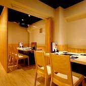 完全個室あり! デート、女子会、宴会に最適な落ち着いた空間