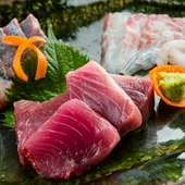 新鮮なピチピチ旬魚を味わえる『今日のお刺身』