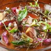 新鮮な野菜と魚が織り成す絶妙のハーモニー『カルパッチョ』