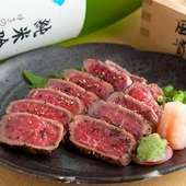 『和牛たたき』牛肉の旨みが口中に広がる逸品