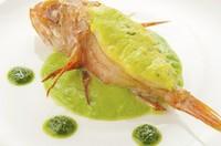 北海道の高級魚、脂ののったキンキを使用した『キンキのファルス』