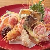 「活魚」、「近江野菜」をつかった料理をお腹いっぱいに満喫