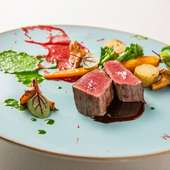黒毛和牛ランプ肉のロティ 赤ワインソースで