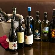 イタリア中心のワインリストの他に、その時期だけしか味わうことができない銘柄も充実。グラスで飲み比べしたり、じっくりボトルと向かい合ったり、気分に合わせ楽しめます。