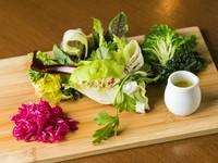 素材の持つ旨みや食感をまっすぐに味わうことができるひらひら農園さんのお野菜たち