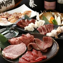 希少部位と松阪牛が味わえるコース