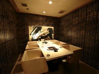 完全個室のVIPルームは、大事な方との会食に最適