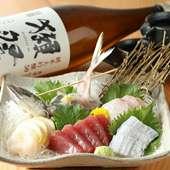 季節ごとの魚に合わせた厳選日本酒を