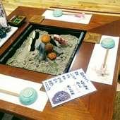 囲炉裏席です!色々な食材を焼きながら日本酒いかがですか