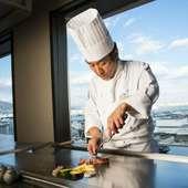 ホテル最上階(18F)からの景色と共にお食事をご堪能下さい。