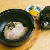 新鮮な鯛の旨みがギュッと詰まった『特製 鯛の出汁茶漬け』