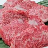 溢れ出す肉汁が魅力的な『特選黒毛和牛ハラミステーキ』
