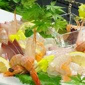 地元大分の新鮮な旬の魚介をふんだんに使った『お造り盛り』