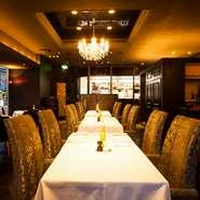 天馬というエリアにあり、独特な雰囲気の内装。料理は本物志向の食材でゲストをお連れするのに間違いのない一軒。お店全体で接待の席をサポートしてくれる、希少なレストランです。