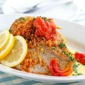 『本日の鮮魚のオーブン焼き ビルバオ風 熱々ガーリックソース』