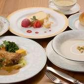 昼から豪華な料理を食せる『レディースランチ』