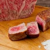 シンプルに鉄板焼で楽しむ本物の味「神戸ビーフ」