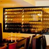 シェフソムリエ厳選。豊富なワインリストが魅力