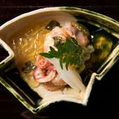 赤貝の旨味を引き出す丁寧な下拵え『京都九条ねぎと閖上産赤貝のぬた』