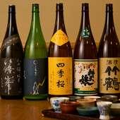 香りの落ち着いた、店主好みの日本酒をオンリスト
