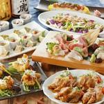 肉と魚が楽しめる『季節のにぎわいコース』