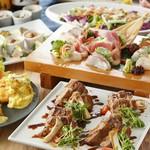 特選豚の昆布焼きと海鮮を使用した『旬の味覚コース』