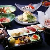 旬の食材を使った至福のコース『<ヒトサラ限定>季節の懐石料理コース8品』