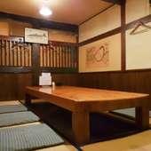 2Fの座敷(堀ごたつ)です。ほぼ個室としてご利用いただけます