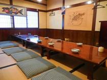 2Fの座敷です。個室として最大25名様まで収容可能です