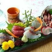 取れたて新鮮鮮魚がたっぷり『5種盛り合わせ』