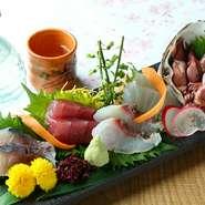 日によって入荷されますので、その日の新鮮な鮮魚を贅沢に味わえる一品。