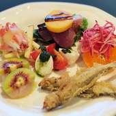 新鮮な魚介と野菜の『本日の前菜盛り合わせ』~冬の一例 その日のおすすめ盛り合わせです!