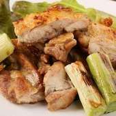 知床若鶏の上品な旨みと葱の自然な甘みがマッチ『鶏モモと長葱の山賊風』